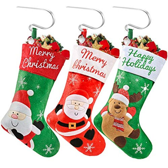 Christmas Stockings with 3 Christmas Stockings Holder 50% off