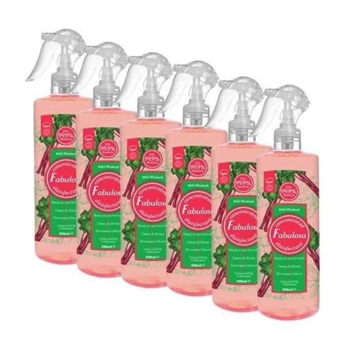 Fabulosa Wild Rhubarb Anti-Bacterial Trigger Spray 500ml Case of 6