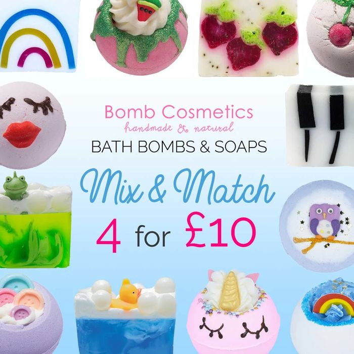 4 Bath Bombs or Soaps for £10 Mix & Match