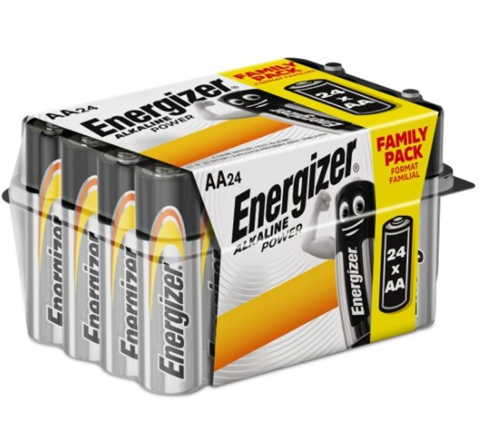Energizer AA Alkaline Power Batteries - 24 Pack - Only £5.99!