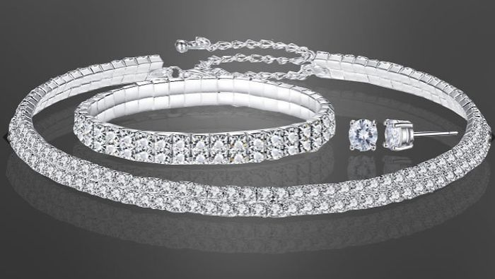 Double Row Tri-Set with Crystals from Swarovski for £7.99