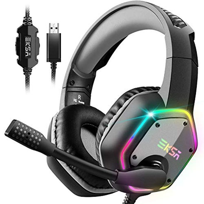 Deal Stack - USB Gaming Headset with 7.1 Surround Sound and Noise Cancelling Mic
