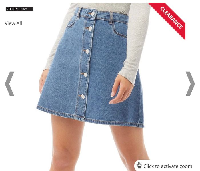 Noisy May Womens Sunny Short Denim Skater