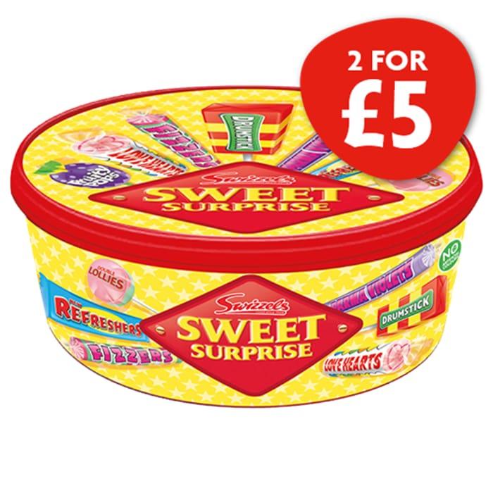 2X Swizzels Matlow Sweet Surprise Tub 500g