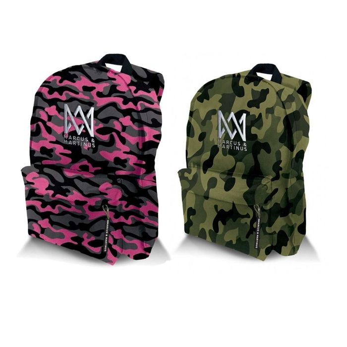 Marcus and Martinus Camouflaged Military Style Backpack Bag