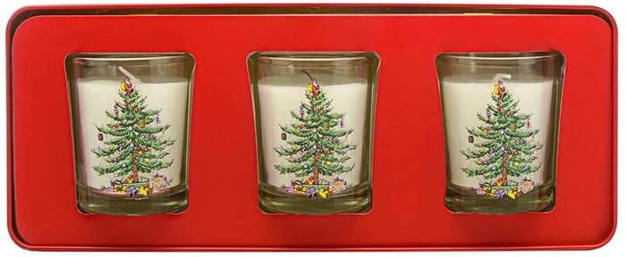 AMAZON DOTD: Wax Lyrical Spode Christmas Tree Candle Gift Set