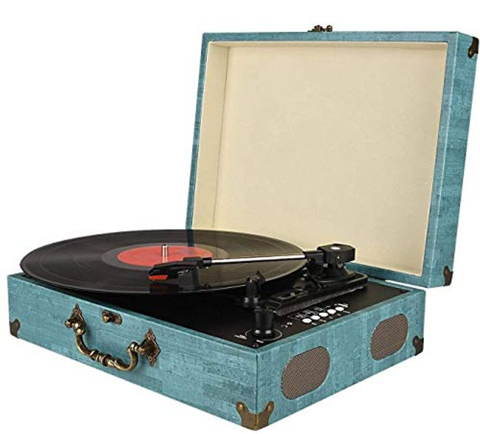 Bluetooth Record Player Turntable 3-Speed