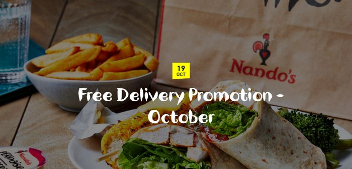 Nando's FREE Delivery via Deliveroo 21st Oct - 1st November