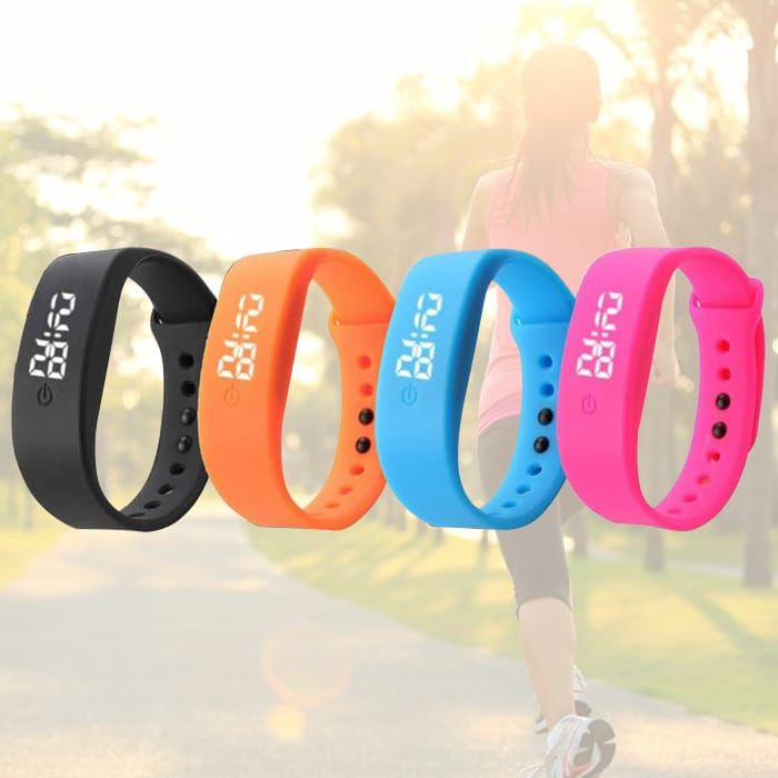 Silicone LED Sports Electronic Watch