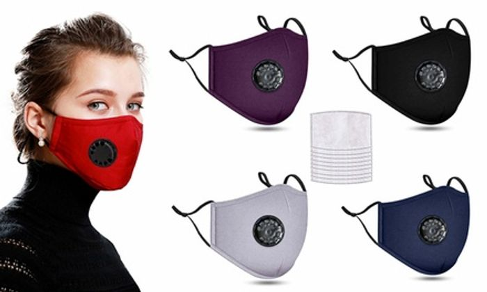 Reusable Face Mask with 10 Filters