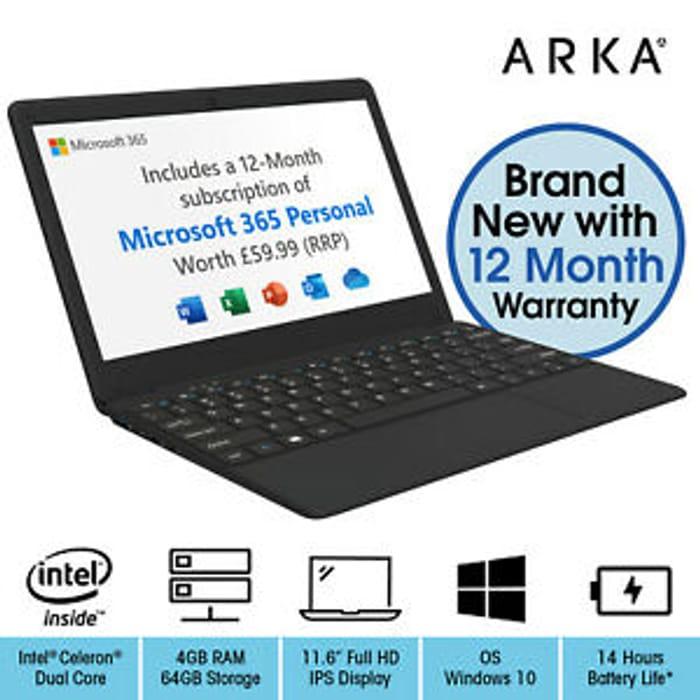 ARKA Book Laptop 11.6 Inch Windows 10 - Only £99.99 Delivered