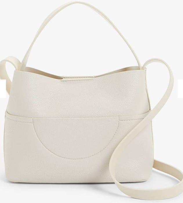 Kin Sia Small Hobo Crossbody Bag, Neutral