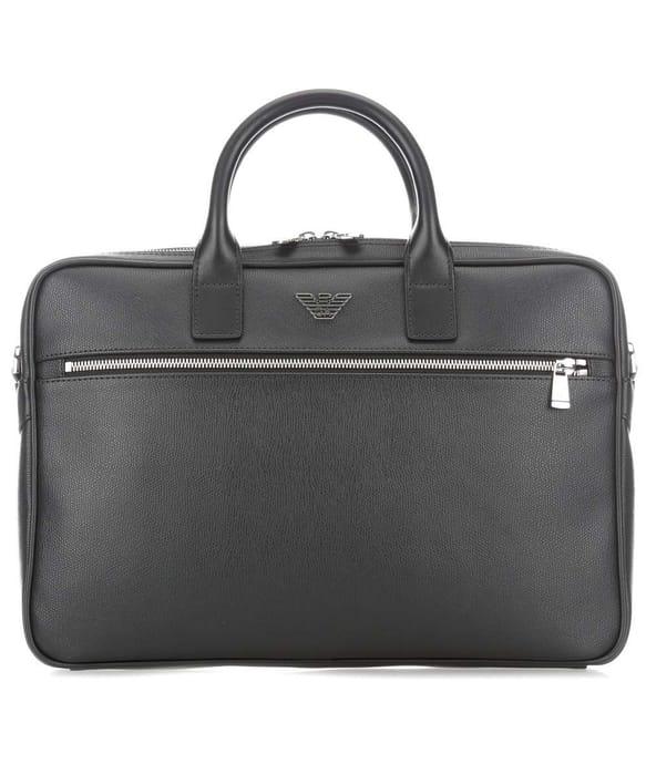 Emporio Armani Metalic Briefcase Black
