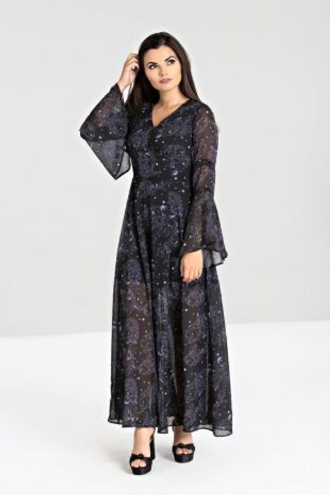 Cheap Dark Sea Maxi Dress at Hellbunny