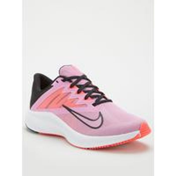 *SAVE £8* Nike Quest 3 Trainers - Pink/White Sizes 3 > 8