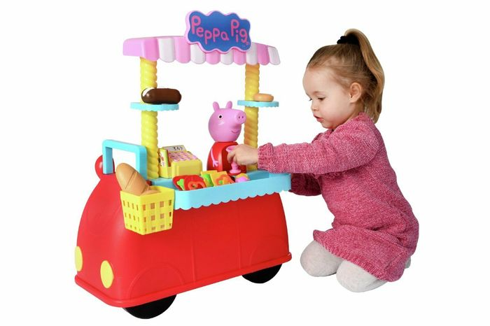 Peppas Deli Car - Plays Peppas Theme Tune & Features Stackable Food Accessories