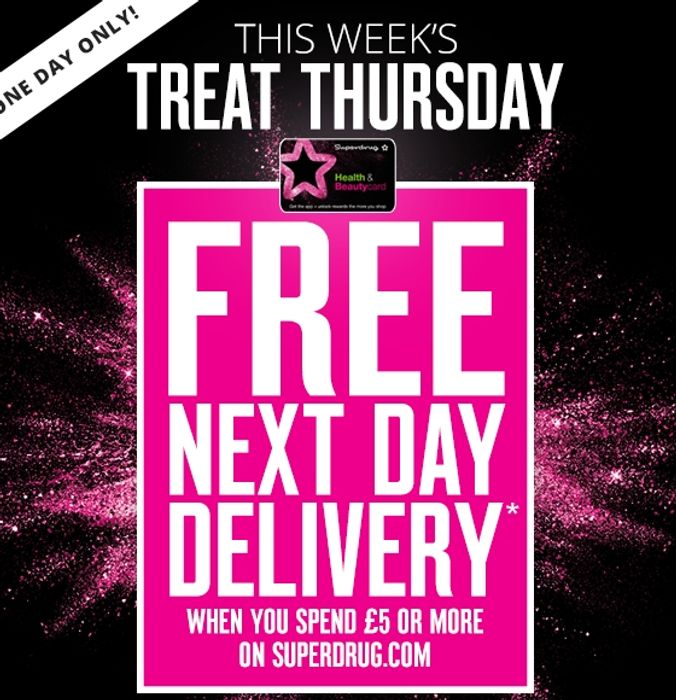 Free next Day Delivery at Superdrug!