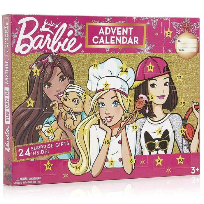 Barbie Or Hot Wheels Advent Calendar for £8 Delivered!