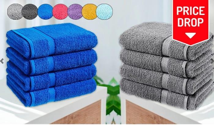 4 X Jumbo Egyptian Cotton Bath Sheets + EXTRA 10% Off