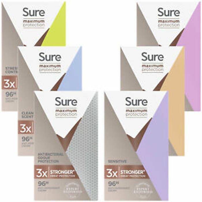 Sure Women Anti Perspirant Cream 3 Pack