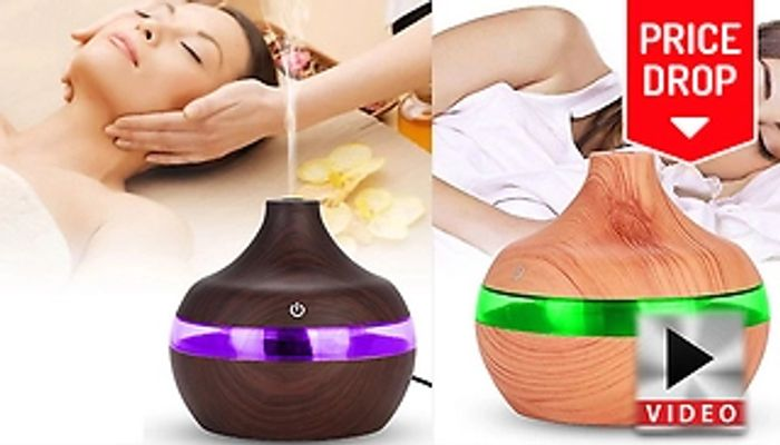 Save 90% On A Aroma Essential Oil Electric Humidifier - 2 Colours