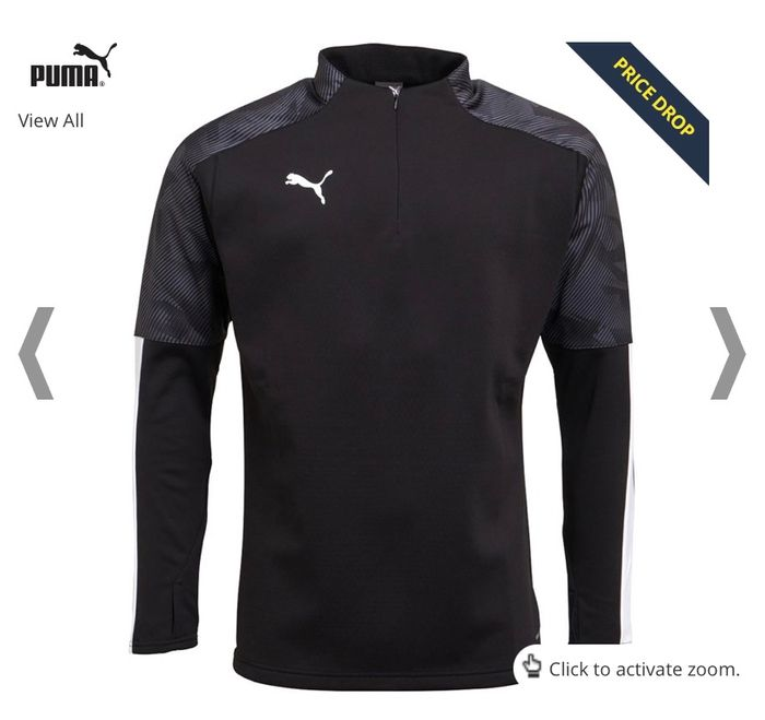 CHEAP! Puma Mens Cup Training Fleece Puma Black/Asphalt