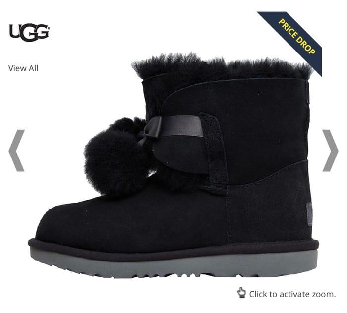 Best Price! UGG Girls Gita Boots Black
