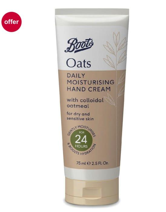 Boots Oats Moisturising Daily Moisturising Hand Cream 75 ml Only One Item Stock