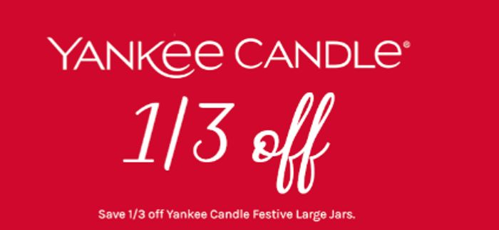 Save 1/3 on Yankee Festive Large Jars