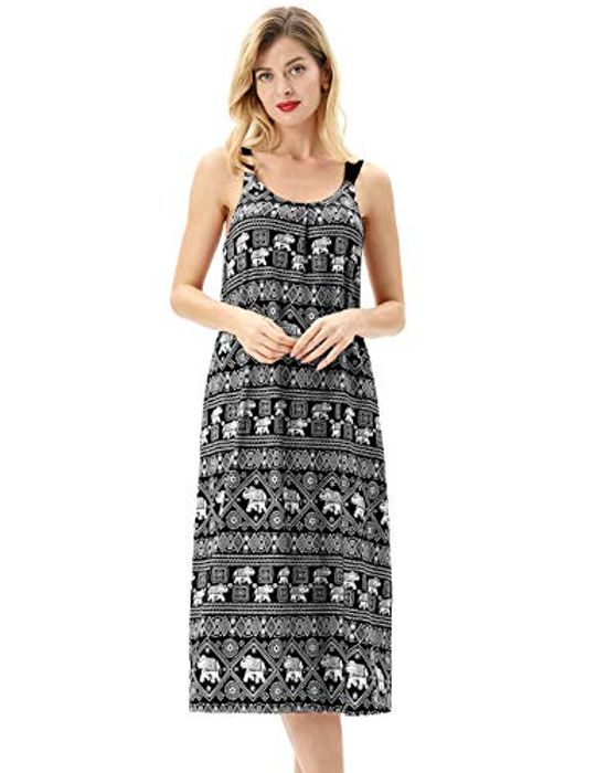 £10.99 Women's Cotton Sleeveless Nightdress S-XXL
