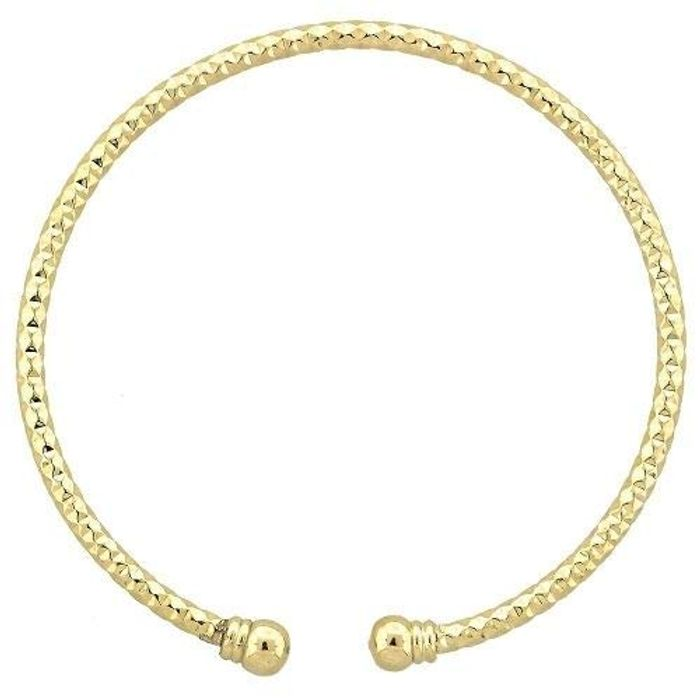 50% off - 9CT Yellow Gold Stackable Diamond Cut Bangle - Only 11.99