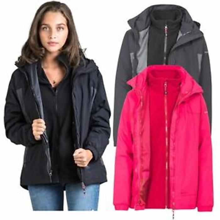 Best Price! Womens Trespass 3 in 1 Waterproof Jacket