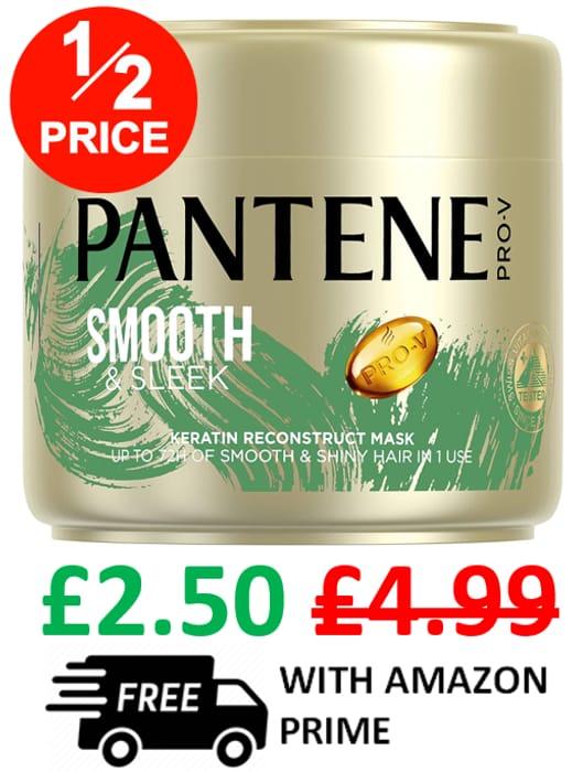PANTENE Smooth & Sleek Hair Mask 300ml *4.7 STARS* (MINIMUM 2)