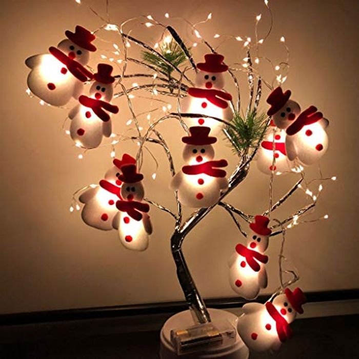 LED Christmas Snowman Lights