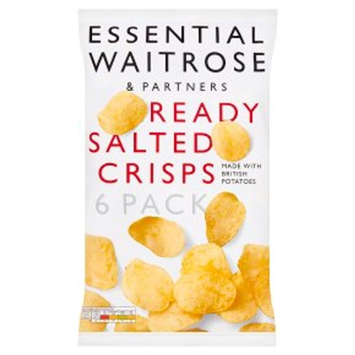 Waitrose Ready Salted Crisps,6pack, Price Drop,now 85p