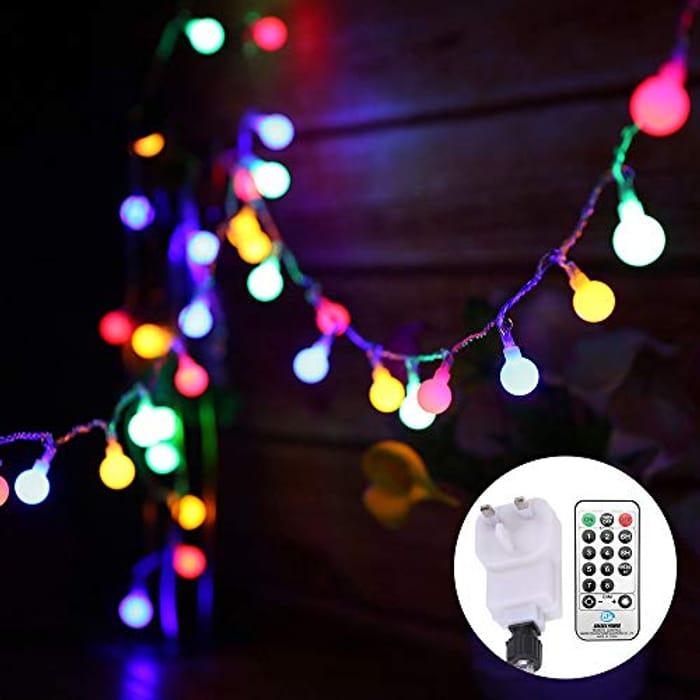 String Lights Mains Powered 13M/43ft 100 LED