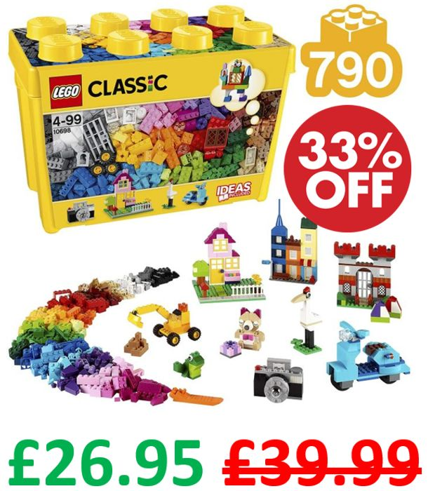 GOING CHEAP! Lego Classic LARGE Creative Brick Box + FREE DELIVERY (10698)