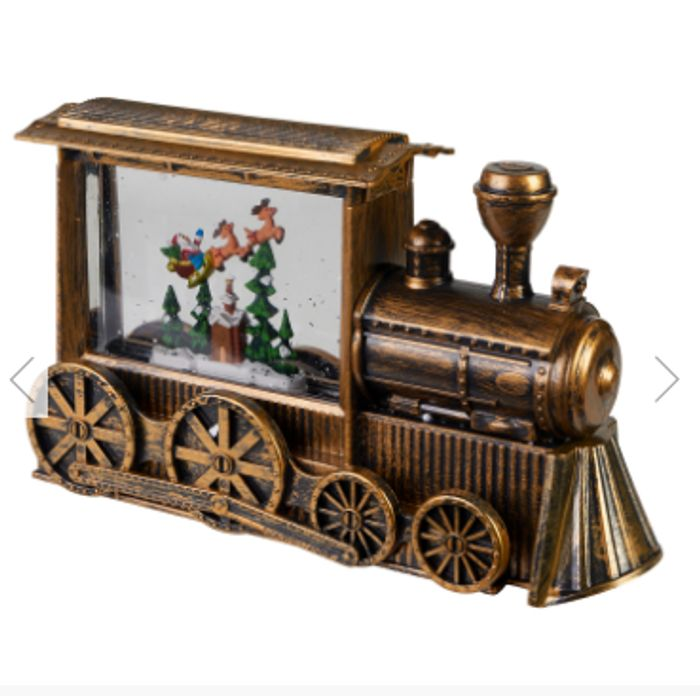 Cheap LED Spinning Glitter Copper Train - Only £19.99!