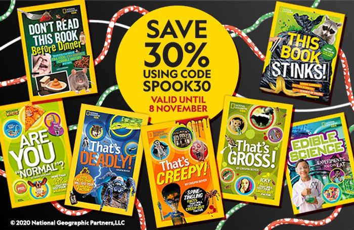 30% off on Nat Geo Kids Halloween Collection