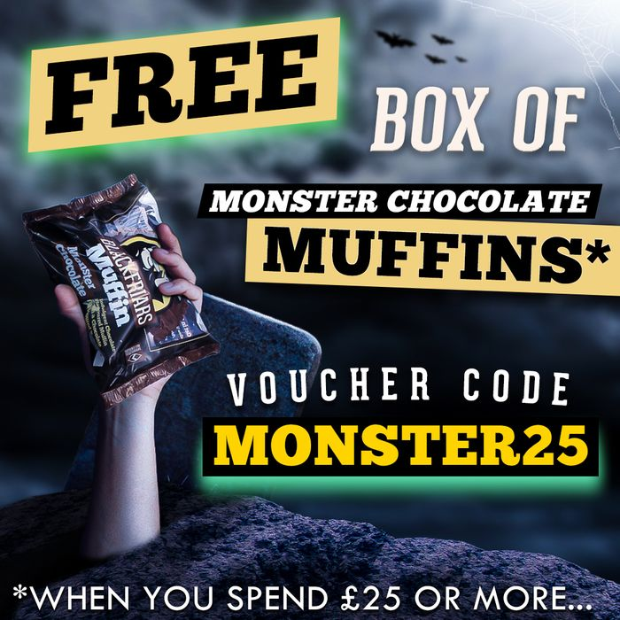 Free Box of Monster Chocolate Muffins - Minimum Spend £25