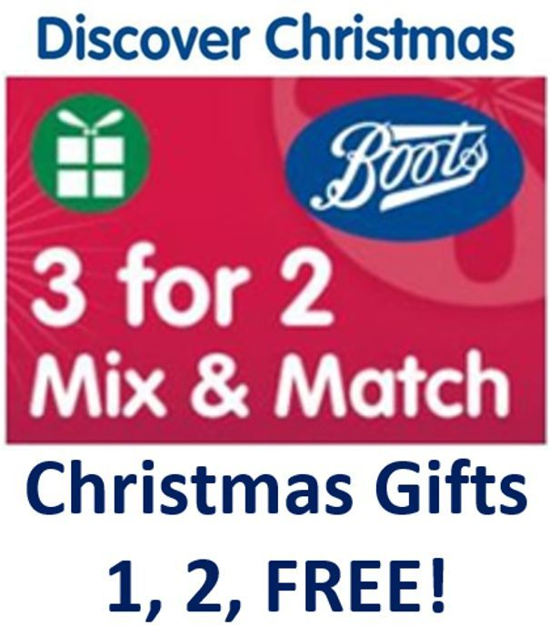 Special Offer - Boots Christmas 3-for-2 Gifts - MIX & MATCH