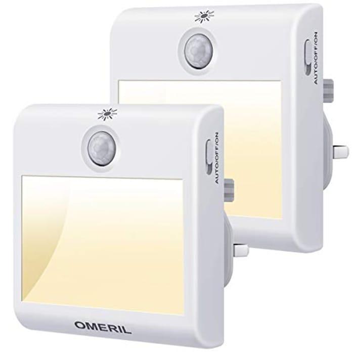 Plug in Night Light, OMERIL 2 Pack