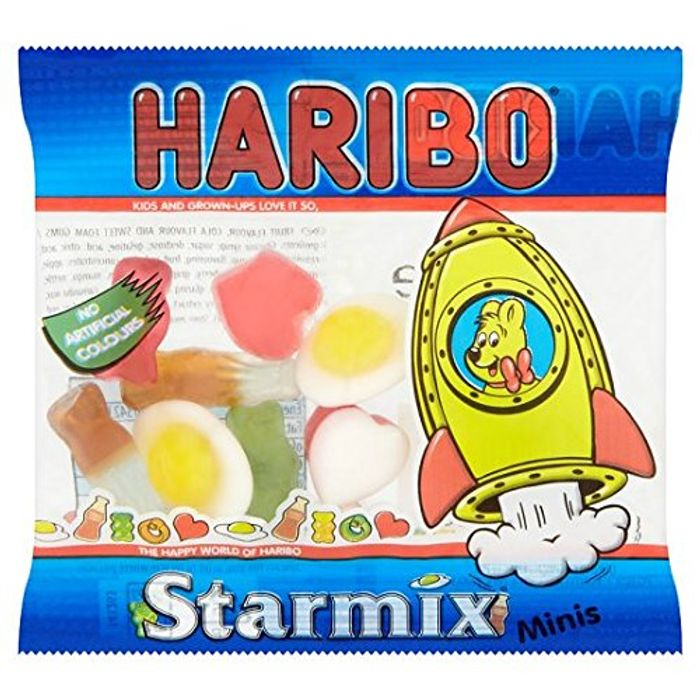 Pack of 100 HARIBO Starmix Sweets Mini Bag 16 G