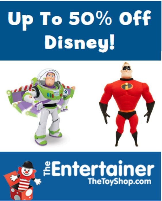 Up to 66% off DISNEY TOYS at the Entertainer