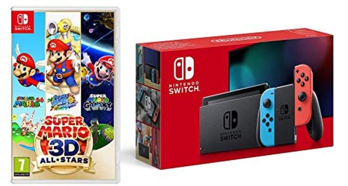 Nintendo Switch (Neon Red/Neon Blue) + Super Mario 3D All-Stars