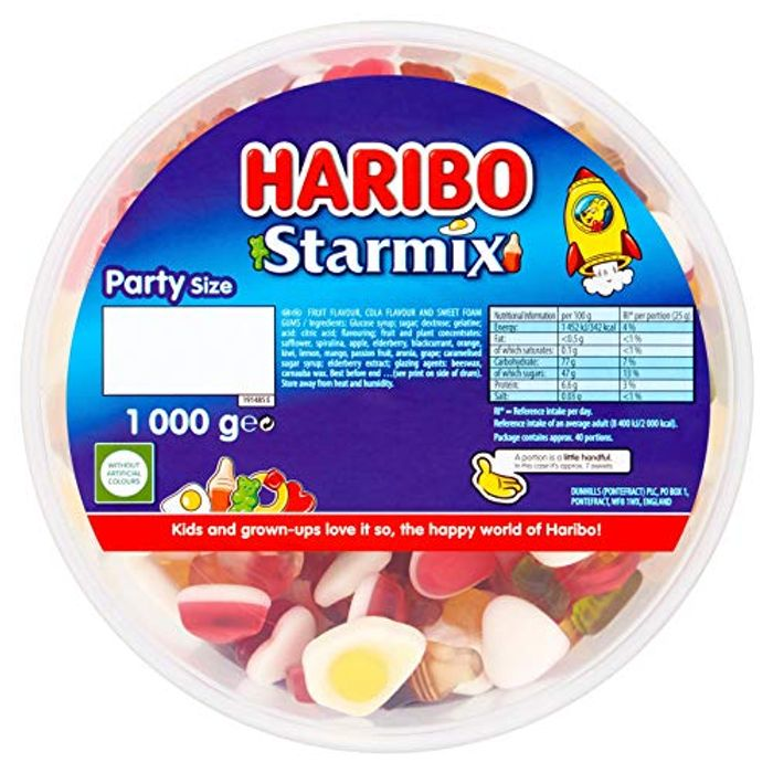 Haribo Starmix 1kg Sweets Party Tub Star Mix