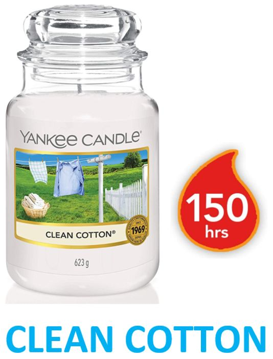 Best Price! Yankee Candle Large Jar Scented Candle   CLEAN COTTON