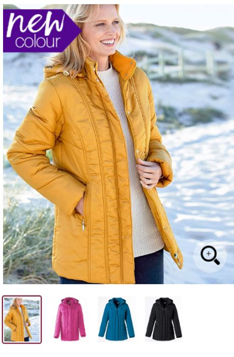 Padded Parka Coat With Detachable Hood *Choice Of Sizes & Colours