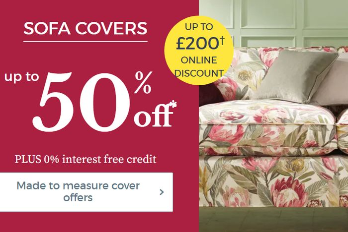 Up To 50% Off Sofa Covers & Made To Measure Curtains +