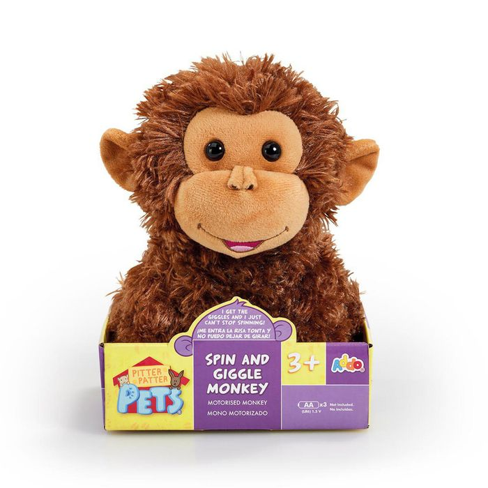 Cheap Pitter Patter Pets - 'Spin and Giggle' Monkey Soft Toy at Debenhams